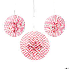 Coral Chevron Hanging Fans