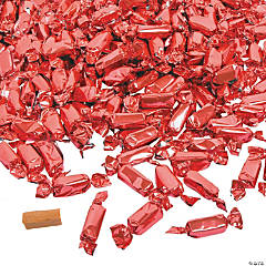 Coral Foil-Wrapped Caramels