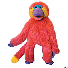 Coral Funky Monkey Plush Puppet