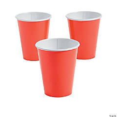 Coral Paper Cups