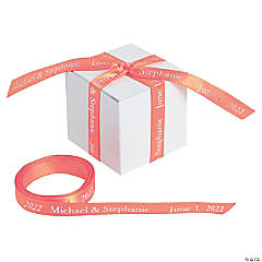 Coral Personalized Ribbon - 3/8""