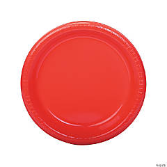Coral Plastic Dinner Plates