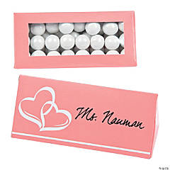 Coral Wedding Place Card Favor Boxes