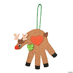 Cork Handprint Reindeer Craft Kit