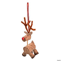 Cork Reindeer Christmas Ornament Craft Kit