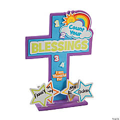 Count Your Blessings Stand-Up Cross Craft Kit