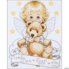 Counted X-Stitch Kit-Angel Birth Record
