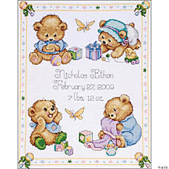 Counted Xstitch Kit Baby Bearbirthrecord