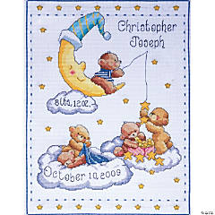Counted Xstitch Kit-Bears In Clouds