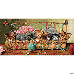 Counted Xstitch Kit -Kitty Litter