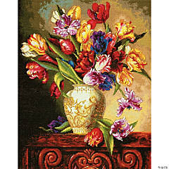 Counted Xstitch Kit -Parrot Tulips