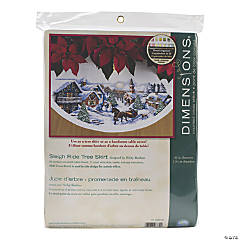 Counted Xstitch Kit-Sleighride Treeskirt