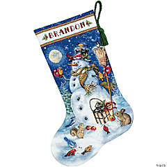 Counted Xstitch Kit-Snowman/Friend Stock