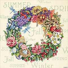 Counted Xstitch Kit-Wreath Of All Season