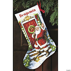 Counted Xstitch Kitwelcome Santastocking
