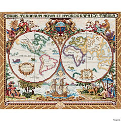 Counted Xstitch -Olde World Map