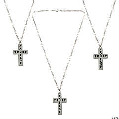 Courage & Trust Cross Necklaces