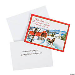 Covered Bridge Religious Christmas Cards
