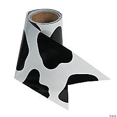 Cow Print Plastic Streamer