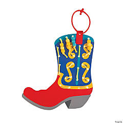 Cowboy Boot Lacing Ornament Craft Kit