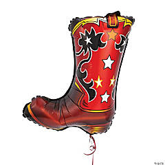 Cowboy Boot-Shaped Mylar Balloon