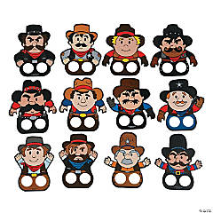 Cowboy Finger Puppets