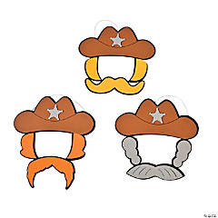 Cowboy Hat and Mustache Craft Kit