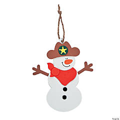 Cowboy Snowman Ornament Craft Kit
