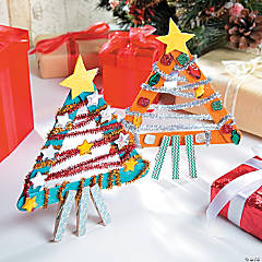 Craft Stick Christmas Tree Idea
