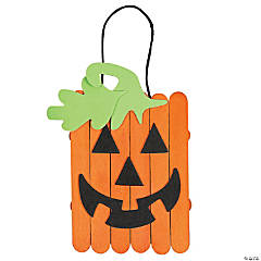 Craft Stick Jack-O'-Lantern Banner Craft Kit