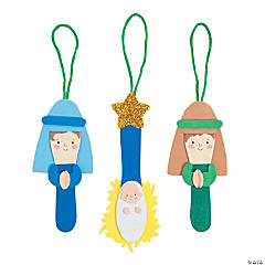 Craft Stick Nativity Christmas Ornament Craft Kit