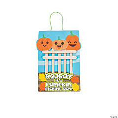 Craft Stick Pumpkin Patch Sign Craft Kit