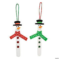 Craft Stick Snowman Ornament Craft Kit