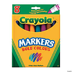 Crayola® 8-Color Bold Colors Conical-Tip Markers