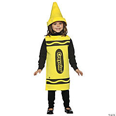 Crayola® Crayon Yellow Kid's Costume