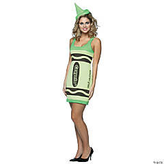 Crayola Green Adult Women's Costume