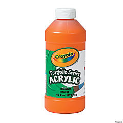 Crayola® Orange Acrylic Paint - 16 oz.