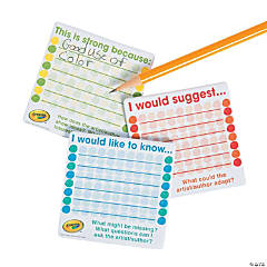 Crayola® Peer Response Sticky Notes