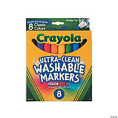 Crayola® Ultra-Clean Washable™ Wedge Markers
