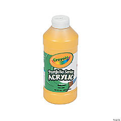 Crayola® Yellow Acrylic Paint - 16 oz.