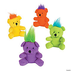 Crazy Hair Stuffed Bears