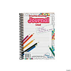 Creative Adult Coloring Lined Spiral Journal