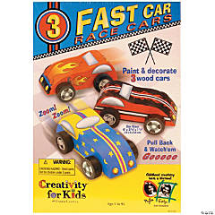 Creativity for Kids Fast Car Race Cars Kit