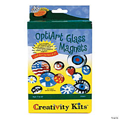 Creativity for Kids Opti Art Glass Magnets