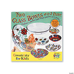 Creativity for Kids Two Glass Bowls 4 U 2 Paint