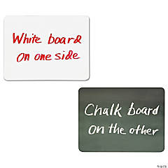 Creativity Street Double Sided Dry Erase Board, Chalk/White, Classpack of 10