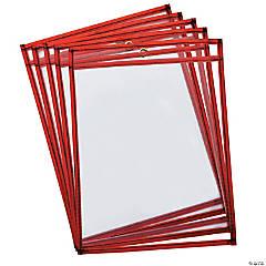 Creativity Street® Dry Erase Pockets, Large, Fluorescent Red, 9