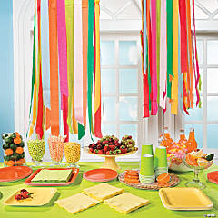 Crepe Paper Chandelier Idea