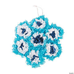 Crinkle Tissue Paper Snowflake Tree Craft Kit