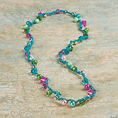 Crochet Beaded Necklace Idea